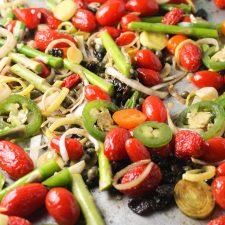 Roasted Spring Veggies w/ Sausage #paleo #whole30 #keto #springfoods #glutenfree