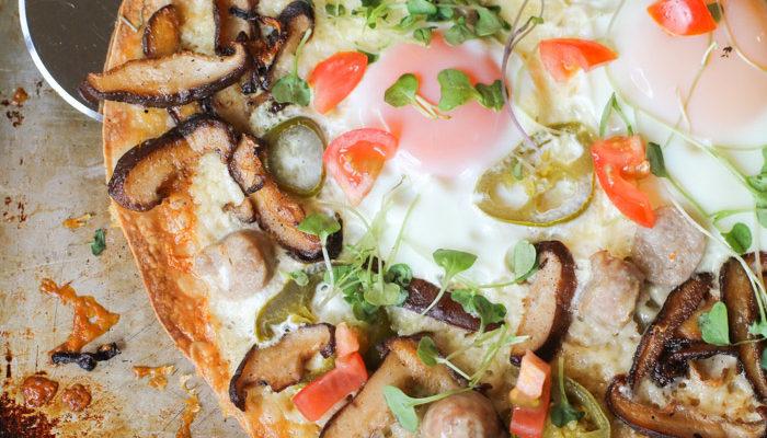 Breakfast Pizza w/ Eggs
