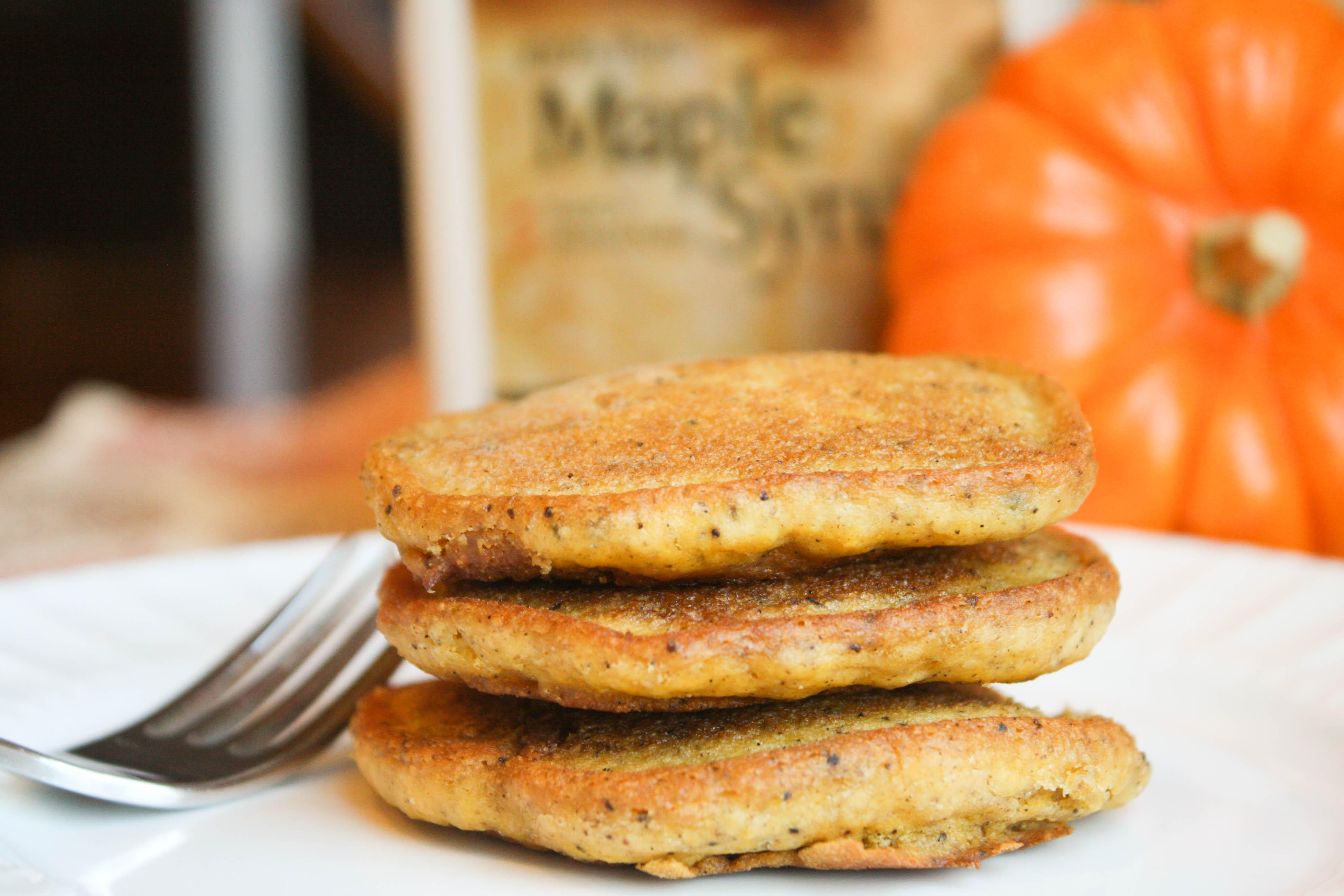 Pumpkin Pancakes - Gluten Free - Vegan