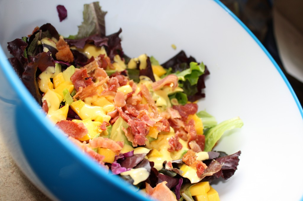 Mango & Bacon Salad w/ Mango Vinaigrette