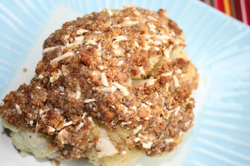 Whole Roasted Cauliflower w/ Breading - Gluten & Dairy Free