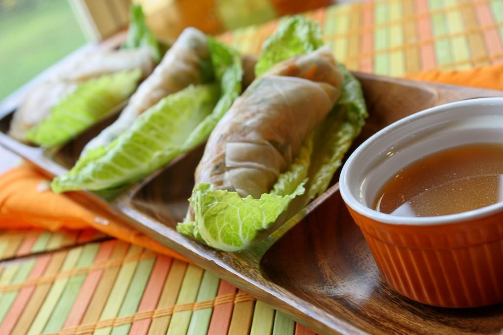 Vietnamese Salad Rolls w/ Dipping Sauce - Gluten & Soy Free
