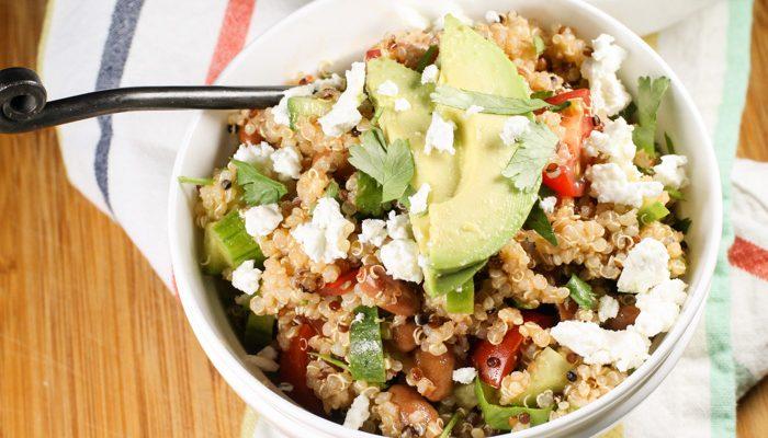 Mexican Quinoa Salad w/ Chipotle Vinaigrette