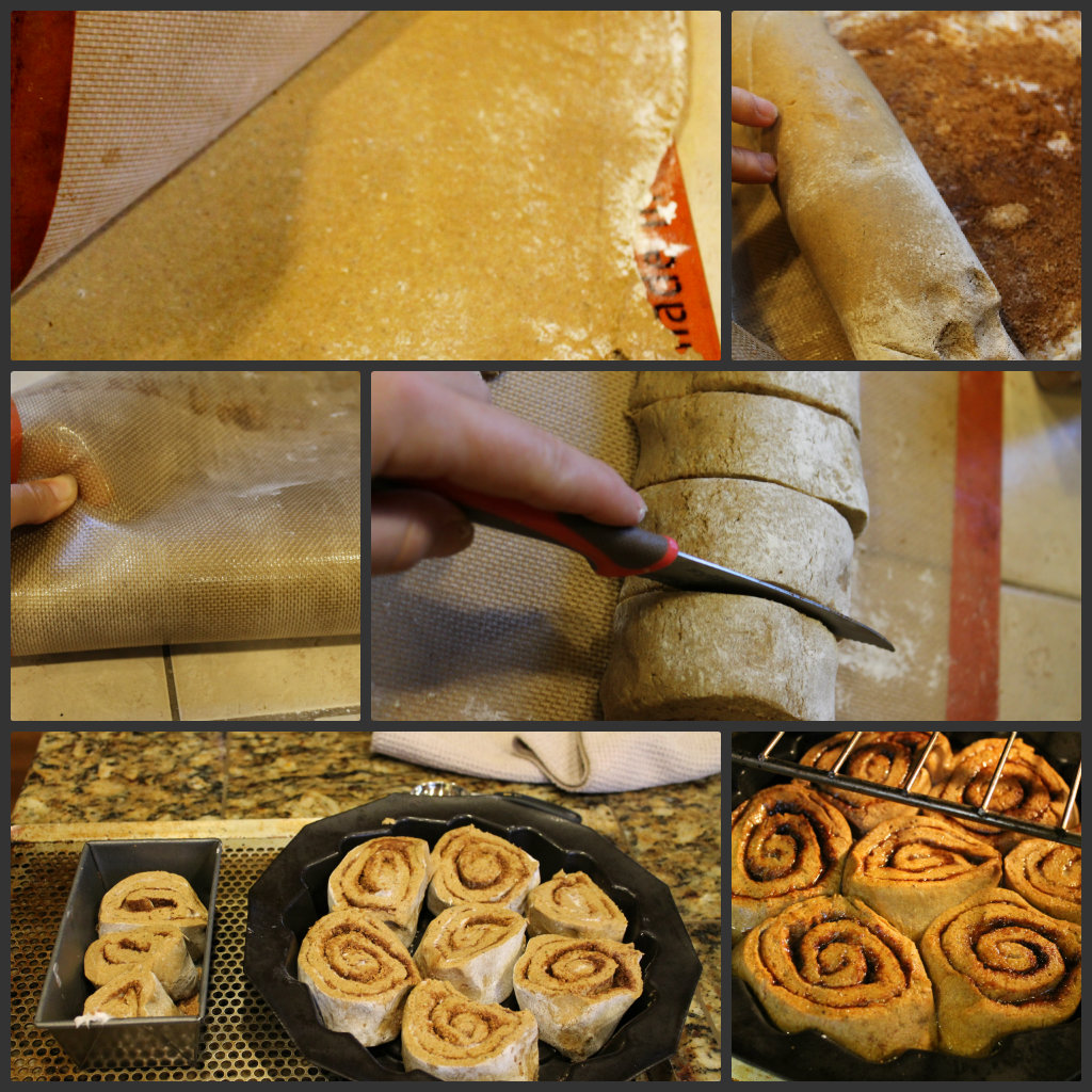 gluten free pumpkin cinnamon roll process shots