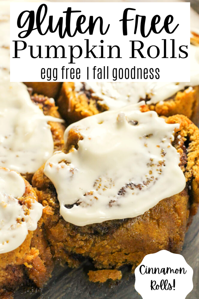 pinterest ready pumpkin cinnamon rolls slathered in a cream cheese frosting