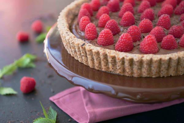 Paleo Chocolate Raspberry Tart (1 of 1)