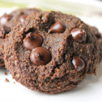 Paleo Double Chocolate Chip Cookies #vegan #paleo #keto #eggfree #dairyfree #cookies #chocolate #glutenfree