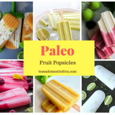 collage of healthy fruit popsicles for kids
