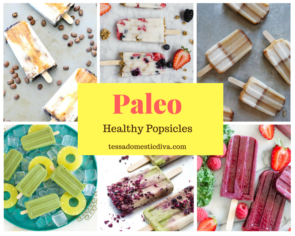 collage of 6 healthy popsicles for kids