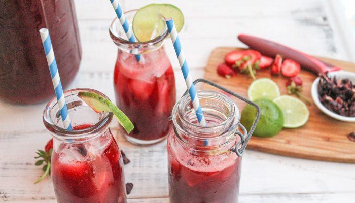 Iced Hibiscus Tea – Agua de Jamáica