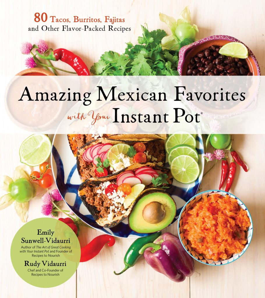 cookbook cover of amzing mexican favorites for your instant pot
