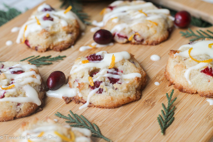 Keto Orange Cookies w/ Cranberry